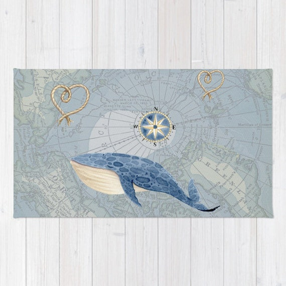 Https Www Etsy Com Uk Listing 253748079 Nautical Whale And Map Mat For A Travel