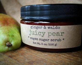 Juicy Pear Vegan Sugar Scrub - Juicy Pear - Juicy Pear Scrub - Vegan Scrub - Sugar Scrub - Body Polish