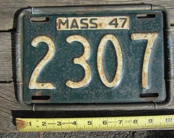 1947 Massachusetts License Plate