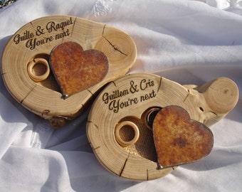 Base for wedding ring / holder rustic ring / Porta alianza, Custom Ring Box,