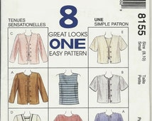 On Sale McCalls  8155    Misses jacket and Top in two lengths  Size 8,10  or Size 12,14  C1996  UNCUT