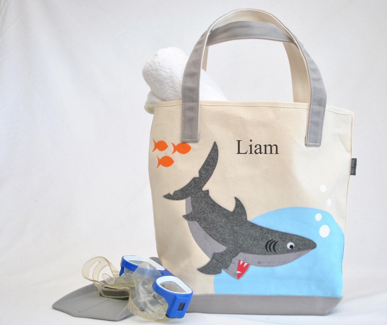 Shark Tote |Personalized Kids Tote| Shark party| Kids Beach tote ...