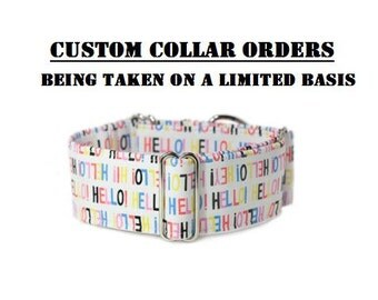 Custom Collar Orders- Being Taken On a Limited Basis Only