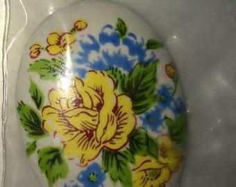Cabachon Floral Handmade