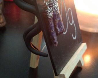 Chandelier amethyst 0g gauges
