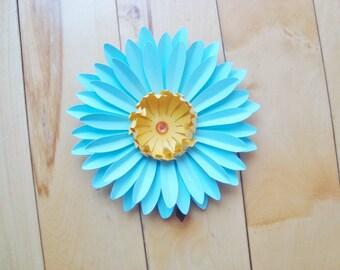 3 Mini Gerbera Daisy Paper Flowers - Paper Flowers | Paper Flower Wall Art | Paper Gerber Daisies | Paper Flower Daisies | Paper Flower Wall