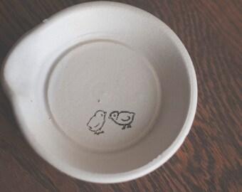White minimalist spoon rest chick graphic