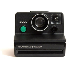 Polaroid 2000 Land Camera - Green Button