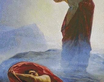Jesus Tempted PDF Cross Stitch Pattern