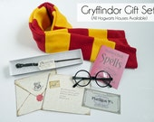 Harry Potter Gift Set- 5 Pieces - Harry Potter Costume - Gryffindor -  Scarf, Wand, Harry Potter Glasses, Spell Book & Hogwarts Letter