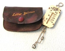 FREE POST - Vintage Collectible Pocket Scales, Letter Scales, Letter Balance, Working Scales, Post Office Curio, Salter Scales, Cased
