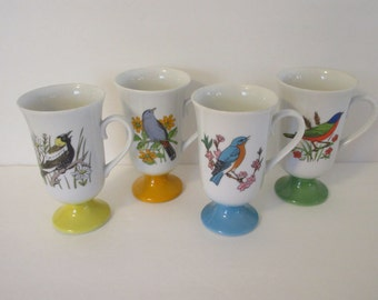 4 Fred Roberts Bird Mugs