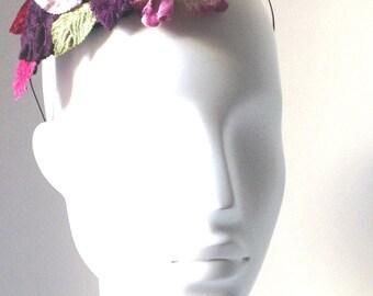 Velvet flowers headband