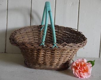 REDUCED Vintage Egg Basket - Wicker Basket