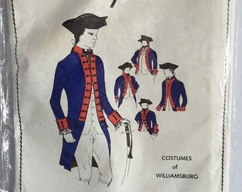 CLEARANCE SALE Peggy Abbott Miller Sewing Pattern Williamsburg Military Coat 1776 Sealed