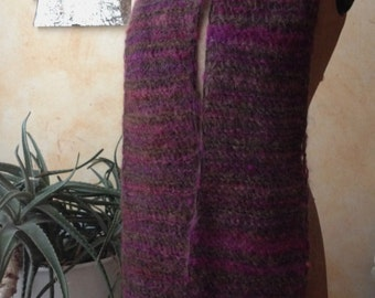 """Handknit scarf - """"Autumn leaves"""", in Fall colors"""