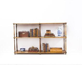 French Three Tiered Hanging Shelf