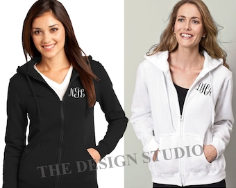 Bridesmaid Hoodies, Set of 7, Bridal Sweatshirts, Bachelorette Hoodie, Monogram Hoodie, Team Bride Hoodie, Full zip hoodie, Entourage Hoodie