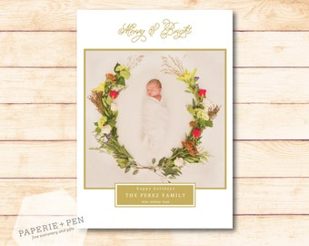 Merry & Bright Classic  // Holiday Photo Card