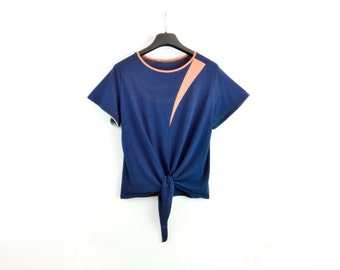 Blåsippa Knot-Tee / Bamboo & Organic Cotton Jersey / Eco Lux Geometric shapes Knot Top