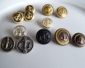 Nautical Button Collection, Anchor Buttons