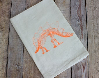 Stegosaurus Hand Towel - Dinosaur Kitchen Towel