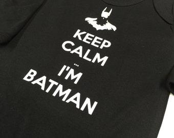 Keep Calm i'm batman! Funny geek baby clothing!