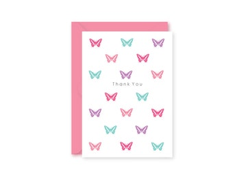 My First Thank You Note, Boxed Set of Butterfly Thank You Cards, Set of 10