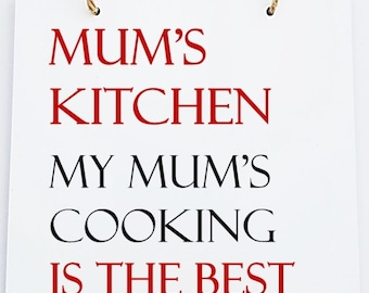 Personalised Home Mum * Dad Hanging Kitchen Sign Plaque.