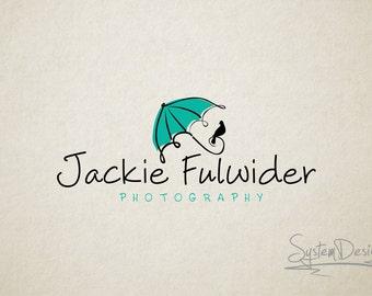 Umbrella logo - Premade logo and Photography logo - Watermark