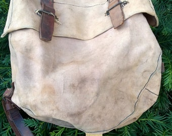 WWII British MK1 Canvas Saddle Bag (1)  ~ W & G, Made in England ~ Great condition!