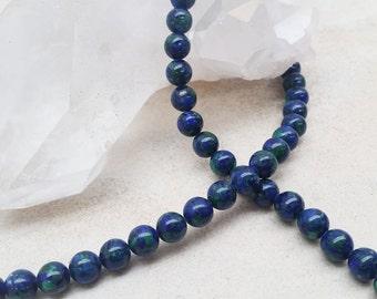 Azurite Blue Round Beads