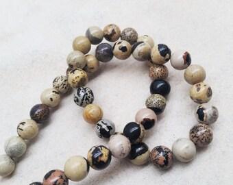 Artistic Jasper 8mm and 10mm Round Beads