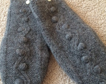 A5  Felted wool mittens   Lined with fleece  size small