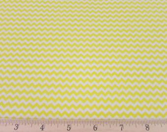 Mini Chevron Yellow Fabric By the Yard