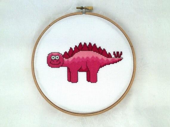 Knitting Room Fond Du Lac : Stegosaurus cross stitch pattern dinosaur needlepoint