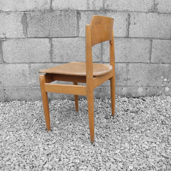 Mid Century School Chair Seat Office Desk 1960s