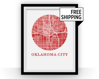 Oklahoma City Map Print - City Map Poster