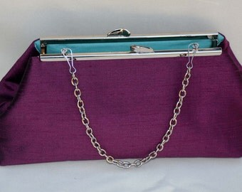 Bridesmaid Clutch, plum Purple Clutch  | weddings Clutch