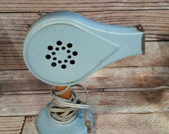 Electric Hair Dryer, Handy Hannah Hair Dryer, Blue, Beauty Salon, Midcentury, Pinup, Industrial