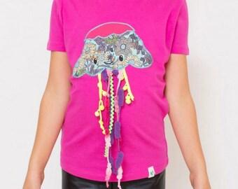 Jellyfish t-shirt - Kids' T-shirt - Children's Gift - Personalized shirt - animal illustration - Ocean tshirt - Funny Kids - Kids T-shirt