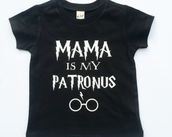 Mama Is My Patronus tee for infants, toddlers, children