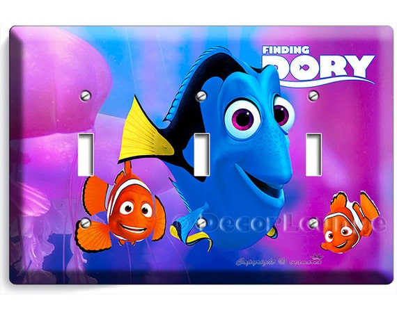Colorful Finding Dory Marlin Nemo Clown Fish Triple Light