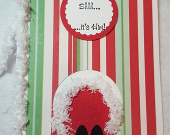 Shhh It's Him Handmade Christmas Card