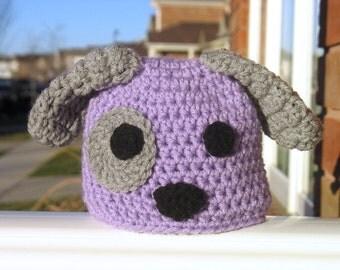 Puppy Hat, Newborn Hat, Baby Puppy Hat, Purple Puppy, Pink Puppy, Blue Puppy, Newborn Photo Prop, Baby Shower Gift, New Baby Gift