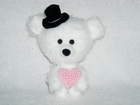 Amigurumi Little Teddy Bear : Valentines Day Gift teddy bear amigurumi little by ...