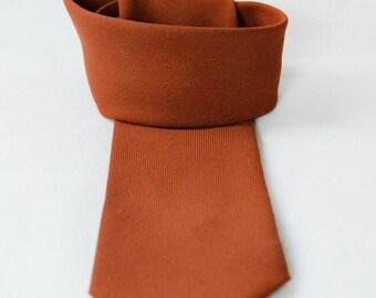 Cool vintage men necktie - classic men's tie - Cinnamon brown classical man's tie - Retro look tie - men's accessory - gift for him