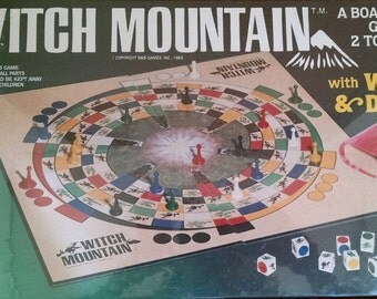 Witch Mountain Board Game With Witches And Dragons, 1983 B&B Games Inc., Unopened Vintage Stock