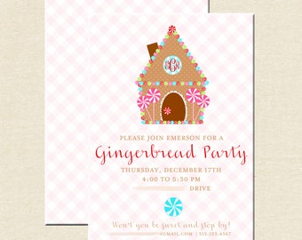 Gingerbread House Decorating Invitations