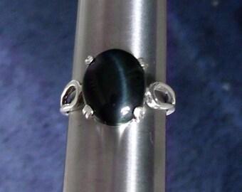 Blue Tigereye Ring - Size 10